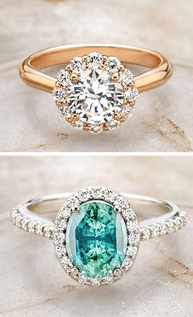 Beautiful halo engagement rings.