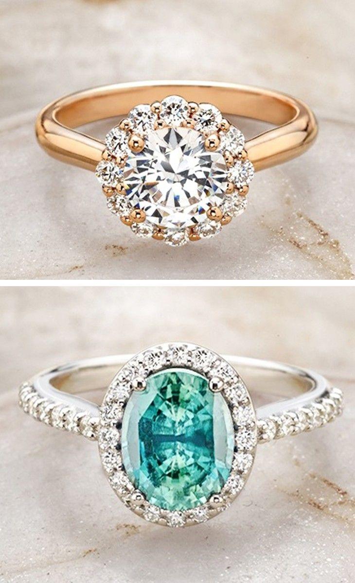 Beautiful halo engagement rings.