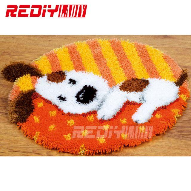 Hot! Tapete do Gancho da trava Kits DIY Needlework Unfinished Crocheting Tapete Almofada de Dormir Mat Cão Tapete Bordado de Fios Tapete Decoração de Casa