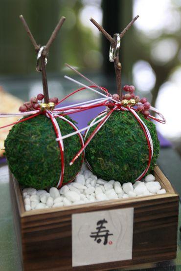 和装結婚式には苔玉を使っておしゃれにアレンジ!秋の結婚式のリングピローアイデア一覧♡