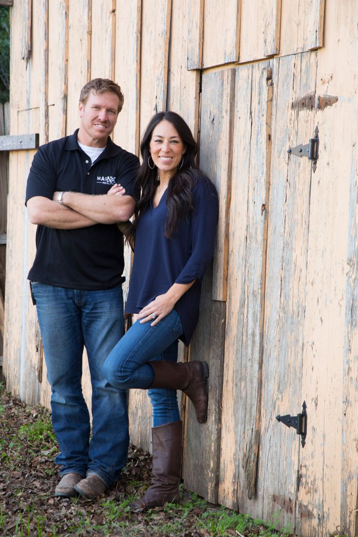 "Chip and Joanna Gaines, hosts of HGTV's ""Fixer Upper,"" Thursdays 11/10c--> hg.tv/10wdgJoanna Gain"