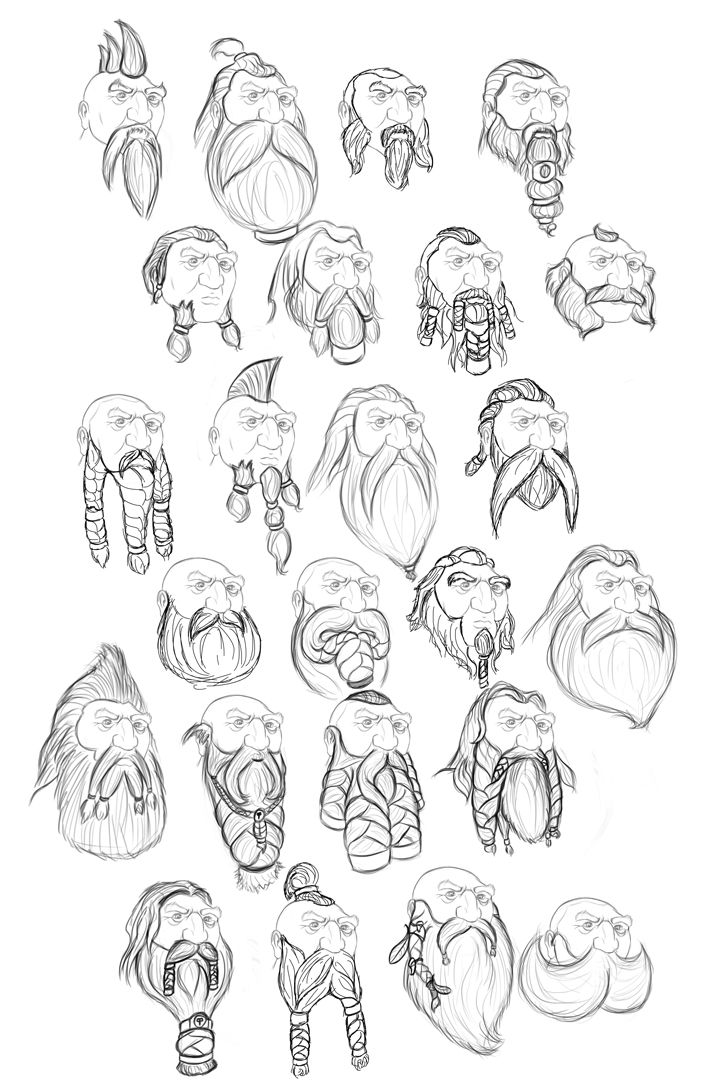 dwarf_beard_sketches_2_by_faisca2-d6kct7h.jpg (720×1080)