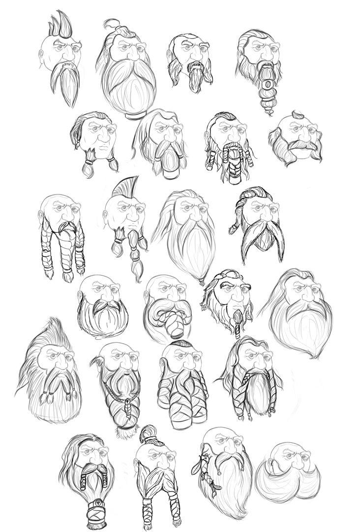 fantasy dwarven relief | Dwarf sketches