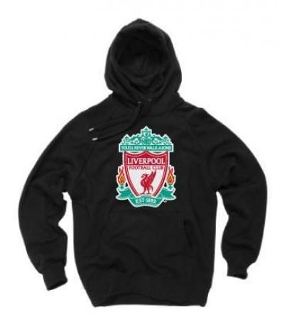 Official Liverpool FC Black Crest Hoodie