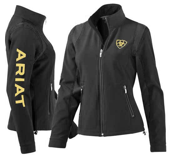 Ariat Team Black Softshell Jacket For Women 10010818