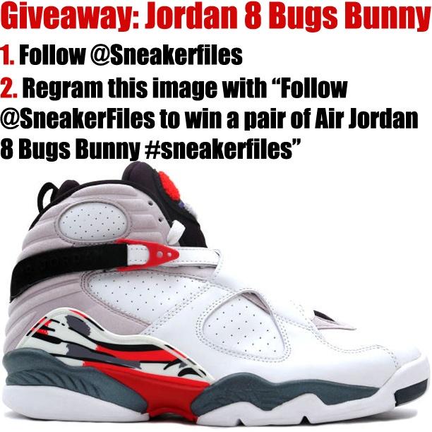 Win a free pair of Air Jordan 8 Bugs Bunny via SneakerFiles.com