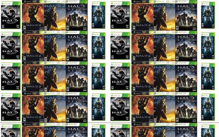 Halo 1 Halo 2 Halo 3 Halo Reach Wallpaper « Tiled Desktop Wallpaper