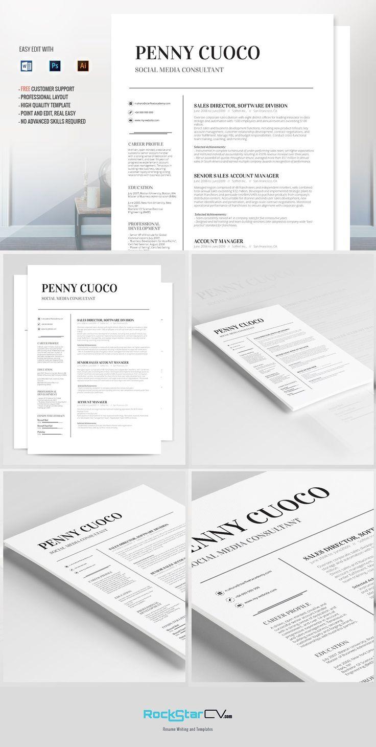 Resume Template Volantis Alpha by Resume Templates on @creativemarket