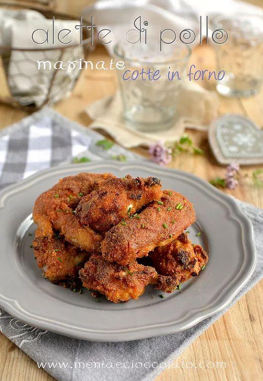 Alette di pollo piccanti marinate cotte al forno. Facili e sfiziose