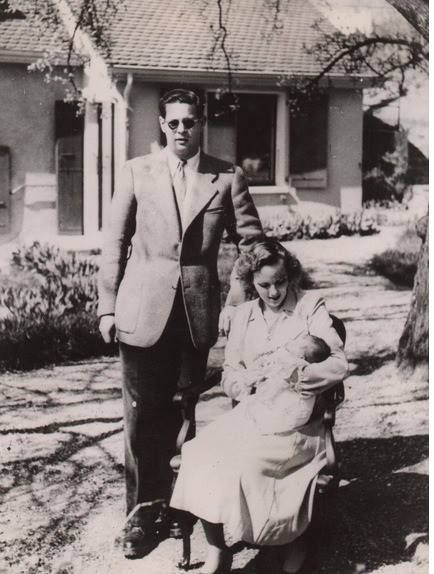 rsandu:Their Majesties King Michael & Queen Ana of Romania with little Princess Margareta -  c. 1949, during their forced exile imposed by the communist.
