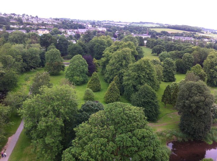 Blarney castle grounds,Birdseye view