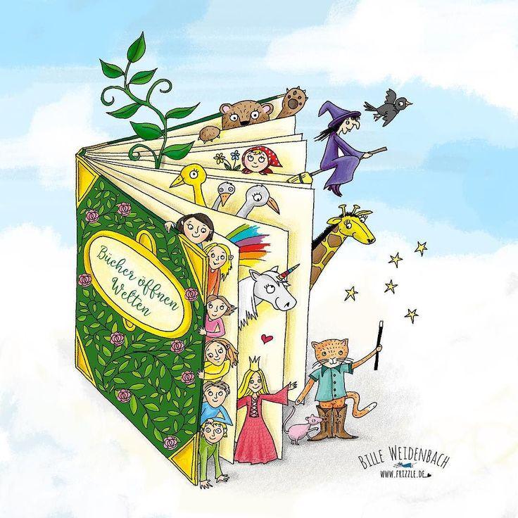 Endlich mal überarbeitet. Mein Bild zum Welttag des Buches   92/365 . . . #365doodlesmitjohanna @byjohannafritz #kinderbuch #bilderbuch #kidlitart #kinderbuchillustrator #illustree #illustratorlife #illustrate #drawing #drawdaily #drawnbyhand #illustratorenorganisation #doodle #doodleart #doodledaily #drawdaily #bookfair #bookillustration #kidsbookillustration #kidsbook #fairytale #illustratorsofinstagram #diefrizzles #polychromospencils #skizzenbuch #skizze