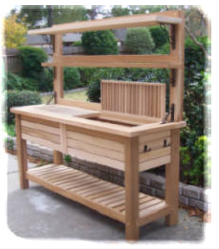 132 best images about gardening potting bench on for Potting shed plans diy blueprints