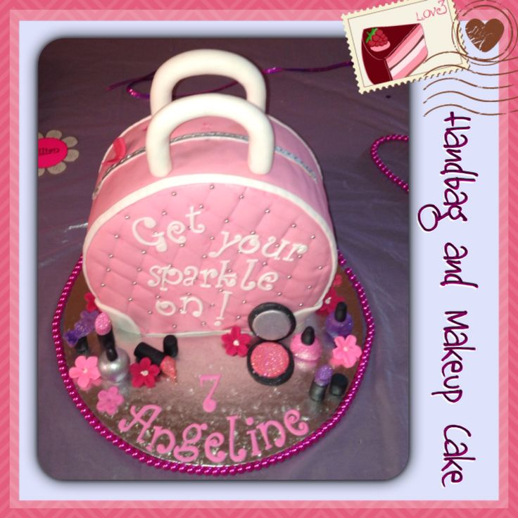 Handbag and Makeup Cake my sister in law made for my niece