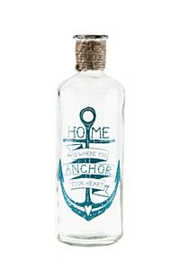 DECAL GLASS BOTTLE WITH ROPE DETAIL