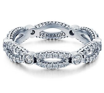 wedding band, anniversary band or a promise ring by Verragio (Parisian-W103R)