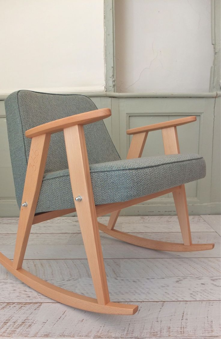 Plywood rocking chair - Rocking Chair 366 Fauteuil 366 Jozef Chierowski 366 Concept Slavia