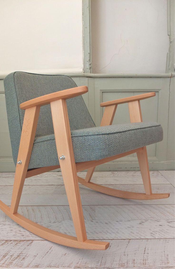 """rocking chair """"366"""" fauteuil 366 Jozef Chierowski 366 concept slavia vintage 6"""