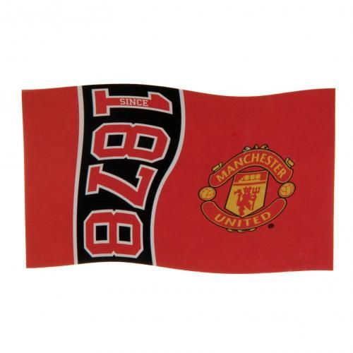 Large Manchester United flag in club colours and featuring the iconic club crest with the year the club was founded. FREE DELIVERY on all of our gifts