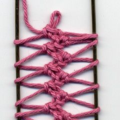 Instructions for making Hairpin Lace