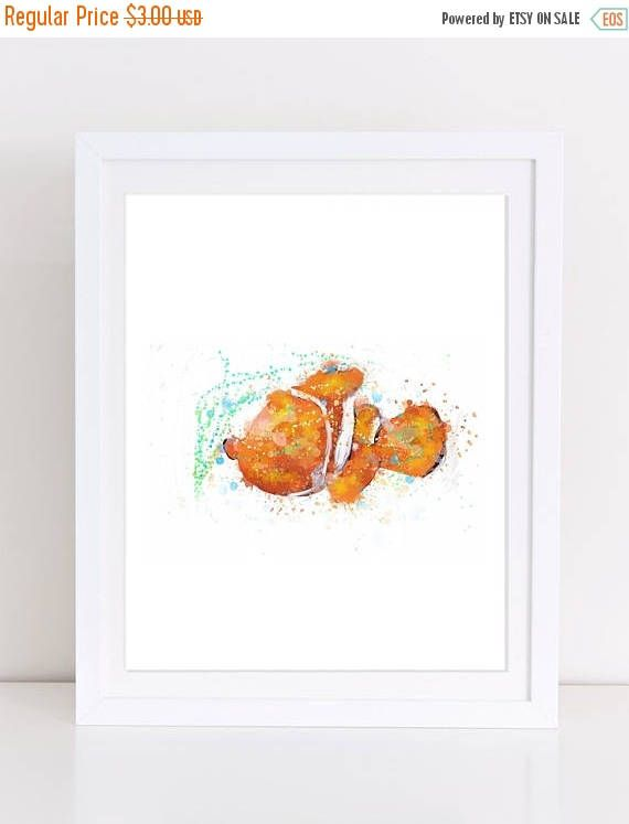 70%OFF Finding Nemo Poster Watercolor Disney Nemo Print Disney