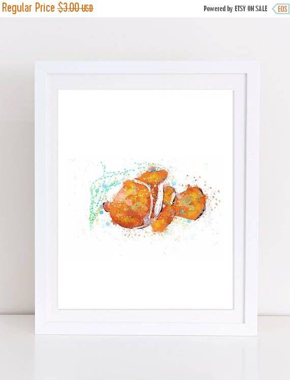 70%OFF Finding Nemo Poster Watercolor Disney Nemo Print Disney