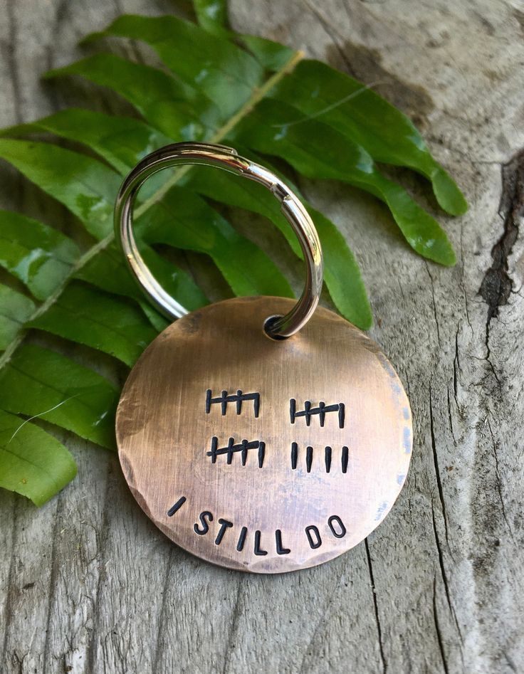 Custom 19th Anniversary Keychain Tally Mark Keychain