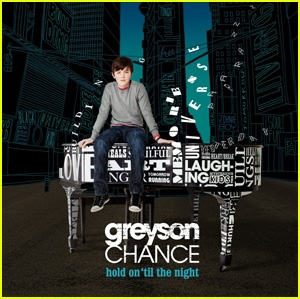 Greyson Chance's album, Hold on 'Til the Night. Pretty intense stuff for such a little kid.