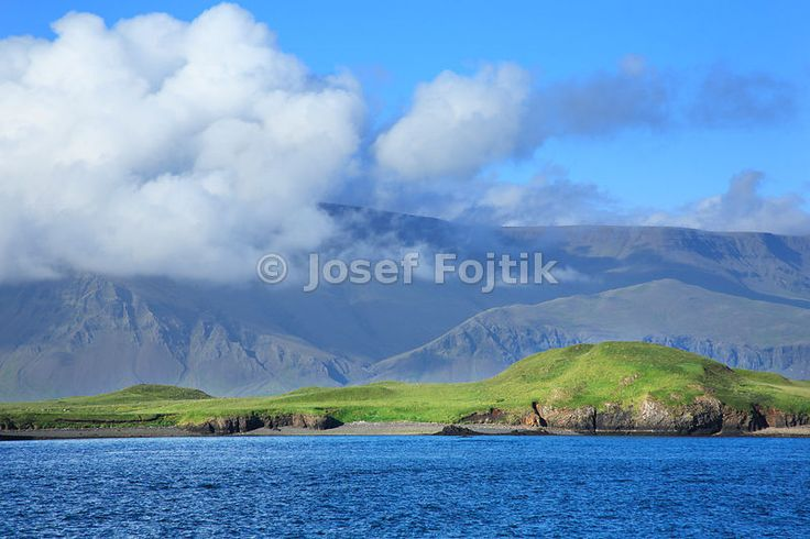 A view from the quay of Reykjavik on the Kistufel Mountain in the north-east direction, Iceland
