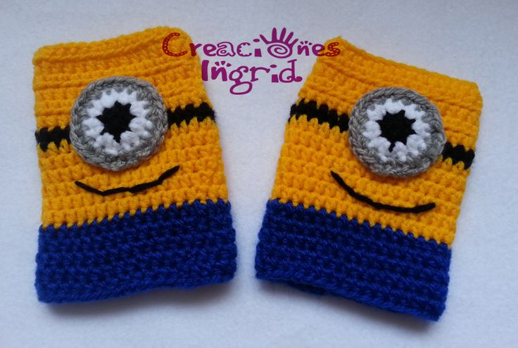 Guantes sin dedos Minions / Minions Fingerless Gloves