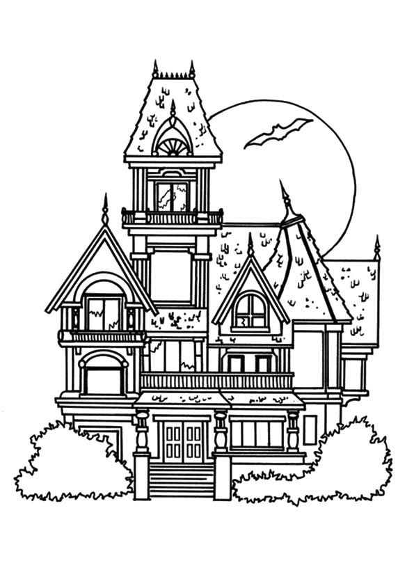 Print Coloring Image Momjunction Free Halloween Coloring Pages House Colouring Pages Halloween Coloring