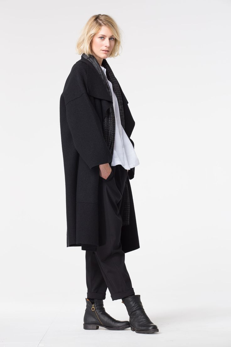 Boiled wool coats are a must-have.