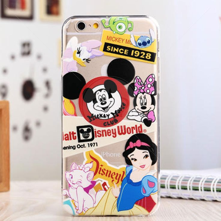 CASE IPHONE! Capa de Silicone Transparente para iPhone 6 Disney World