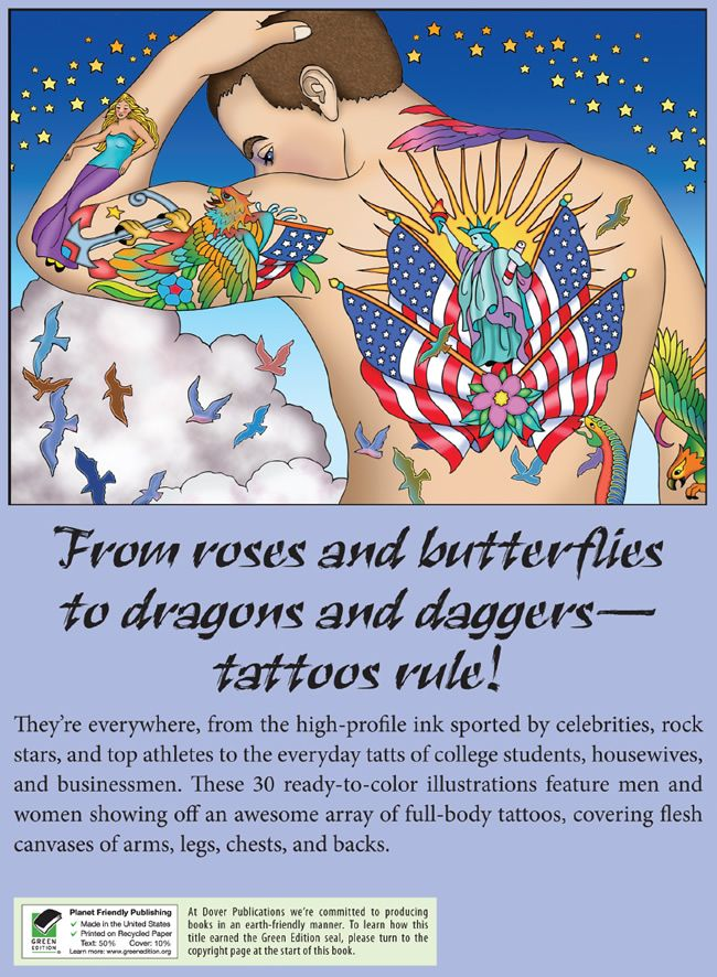 welcome to dover publications body art tattoo designs - Body Art Tattoo Designs Coloring Book