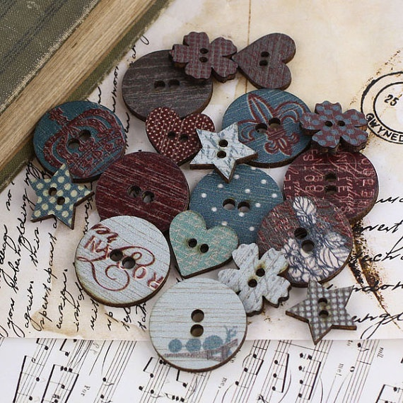 Prima   En Francais Collection  Wood by discountpapercrafts, $4.49