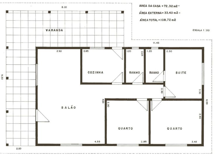 As plantas de casas com três quartos vem sendo bastante procuradas pelas pessoas. Na internet é possível encontrar diversos modelos com fotos e até mesmo fotos de como ficarão as casas no final das obras.