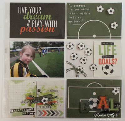 Simple Stories is out with some really nice fototball papers, called Soccer. My Craft and Garden Tales: GOAL - Project life with grass stains