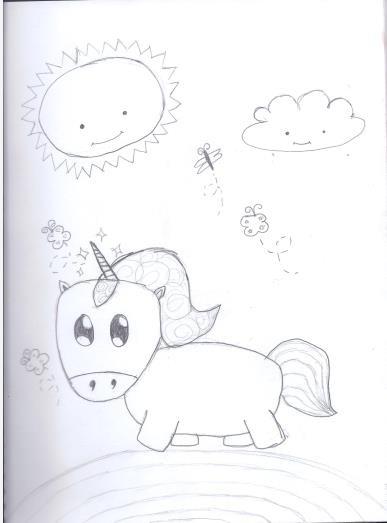 My slightly awkward unicorn
