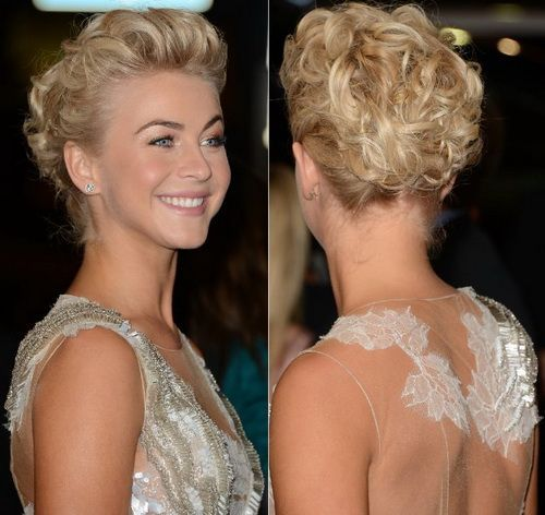 Glamorous Short Curly Updo Hairstyle