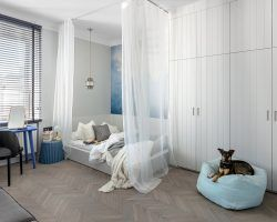 Small apartment renovation in Warsaw, Poland for a young working lady - designed by Finchstudio
