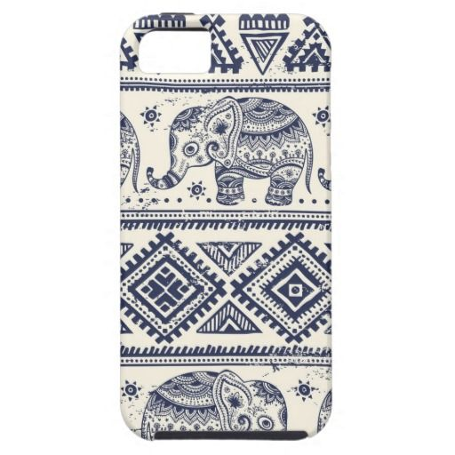 Tribal vintage ethnic elephant pattern iPhone 5 cover