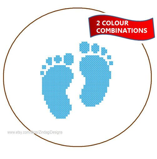 Instant Download Baby Foot prints Cross Stitch by ZindagiDesigns