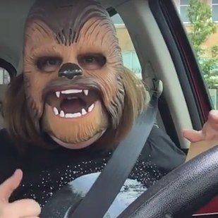 And when Payne finally put on the mask, her joy knew no bounds.   This Woman Hysterically Laughing In A Chewbacca Mask Is The Best Thing You'll See All Day