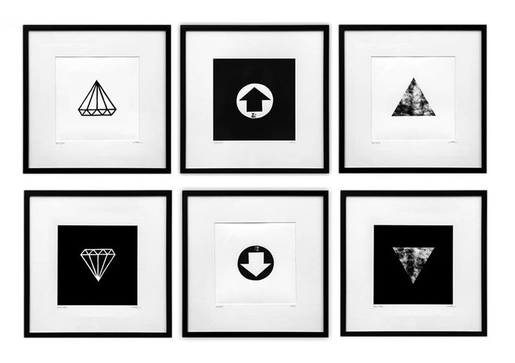 BISCO SMITH - PUSH PRINT SERIES - 20 x 20 ea. framed giclee prints on paper - 2013