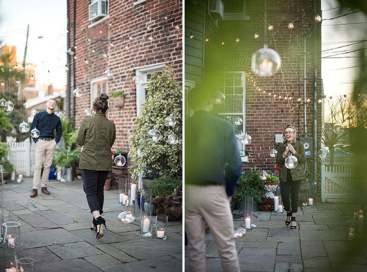 Surprise proposal pictures | Rachele & Josh's surprise proposal in Old Town Alexandria, VA | Images: Sweet Root Village