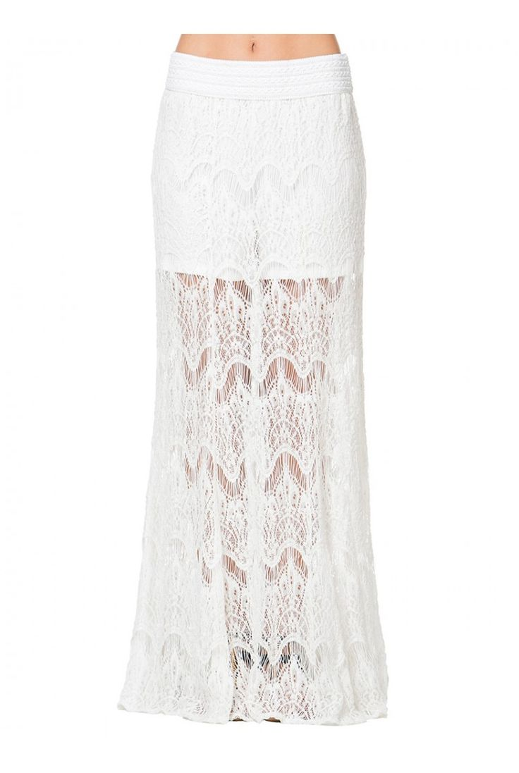 LUCY Lace Overlay Maxi Skirt