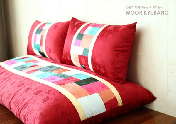 Big set of patchwork cushion / daebangseok / cushions set / traditional cushion / traditional interior / comfortable cushions: Naver blog