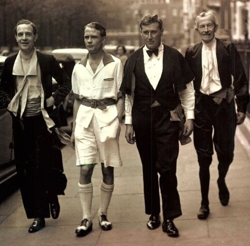 Men's fashion of 30's