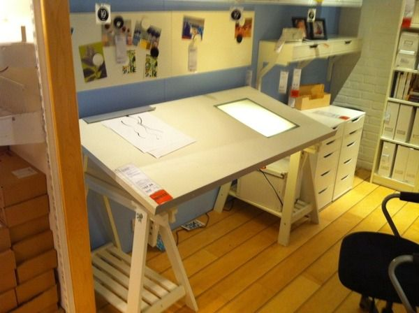 Drawing Table With Light Box Ikea Drafting Table With