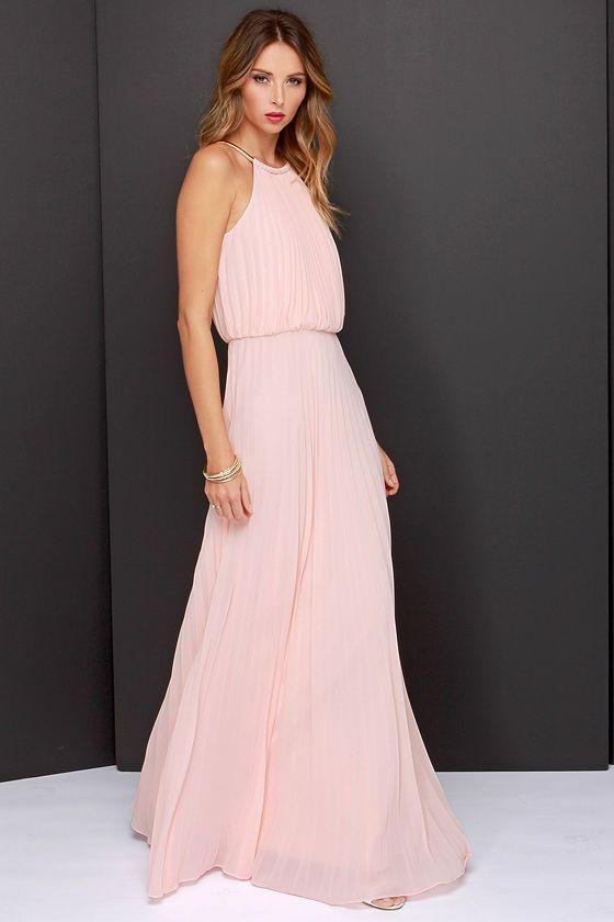 LULUS x Bariano Melissa Peach Maxi Dress at Lulus.com!